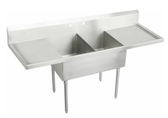 "2 POT SINK  2 DRAIN BOARDS 25269  18""X21""X14"" TUB - 72""W"