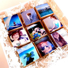 selfie cookies created from photos uploaded from Instagram