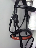 Two-Tone Rolled Horse Bridle | Beasties™