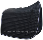 Black Olympic Flag-Tail Dressage Saddle Pads | by PRI Pacific Rim