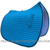 New Turquoise Dressage Saddle Pad with black accent rope cording by PRI Pacific Rim