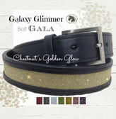 Chestnut Gold Sparkle Belt - Galaxy Glimmer Equestrian Collection Bling Belts