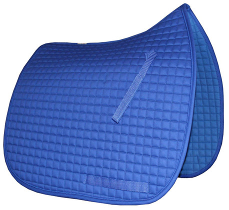 Gorgeous Royal Blue Dressage Saddle Pad with Matching Trim/Piping.