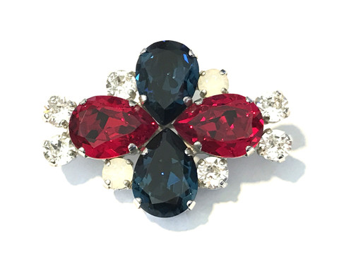 """Red, White and Blue Dressage Brooch / Stock Pin 