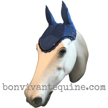 Royal Blue Horse Bonnets (Shown here with black trim).