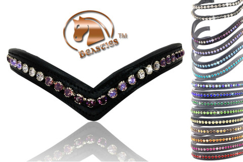 Clearance Sale Browbands -  (Made w/Genuine Swarovski® Crystals