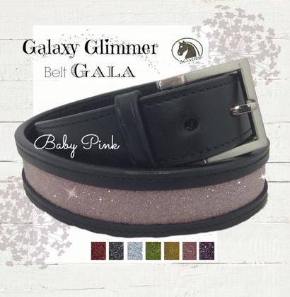 Baby Pink Sparkle Leather Belt