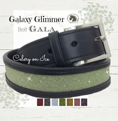 Celery Green Sparkle Belt - Galaxy Glimmer Equestrian Collection Bling Belts