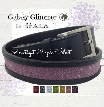 Amethyst Purple Sparkle Belt - Galaxy Glimmer Equestrian Collection Bling Belts