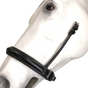 "Leather Crank Cavesson (Noseband without a flash) by Beasties™ Horse Tack Solutions.  Cavesson is 1.25"" Wide.  Shown here with Flat Hanging Straps."