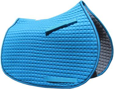 Atlantic Sea Blue (aka: Turquoise Blue) English Saddle Pad.