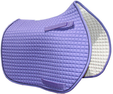 Lavender/Violet/Lilac Purple All-Purpose English Saddle Pad