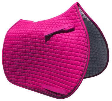 Hot Pink English Saddle Pad