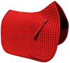 Gorgeous and Vibrant Red Dressage Saddle Pad Color (Shown here with red piping/trim).