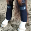 Black Polo Wraps with Replaceable Velcro.  Color coordinate your equestrian look by changing the Velcro.