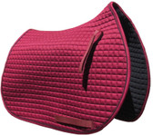 Burgundy / Maroon All-Purpose English Saddle Pad.