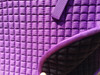 Zoom to view this pretty Purple saddle pad.  Note:  Flannel underside coloring may be different than color shown in this picture.