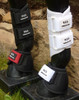 RES Splint Boots.  Currently available in black or white.  Purchase replaceable Velcro® Straps to add color to your boots.