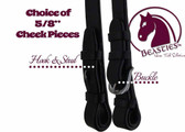 """Set of 2 - 5/8"""" Cheek Pieces with Hook and Stud Ends 