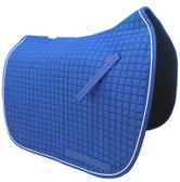 Royal Blue Dressage Saddle Pad with White Piping/Trim.