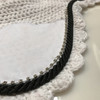 Zoom to view White with black cording and clear crystal bling trim. Horse Fly Veil Bonnet Ear Net
