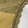 Zoom to view Mustard Yellow with gold cording and clear crystal bling trim. Horse Fly Veil Bonnet Ear Net