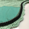 Zoom to view Mint green with black cording and clear crystal bling trim. Horse Fly Veil Bonnet Ear Net