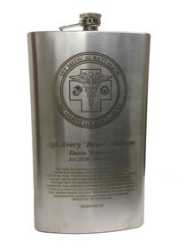 Engravable Jumbo Flask