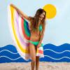 Bambury Rainbow Printed Round Beach Towel - 150cm