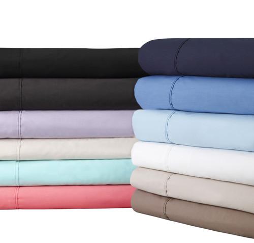 Logan & Mason 2 x Queen Size Pillowcases 54 x 80cm Suit Bambillo Pillows