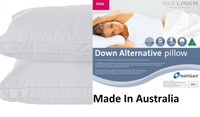 2 x Microloft Microfibre Firm Standard Pillows Made in Australia