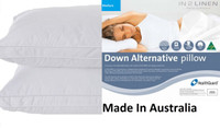 2 x Microloft Microfibre Soft Standard Pillows Made in Australia