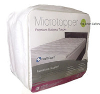 In 2 Linen Single Size Luxury Mattress Topper Anti Allergy