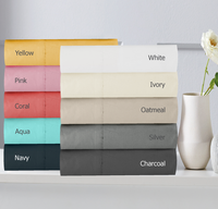 Queen Bed Size Sheet Set 300TC Cotton Percale by In 2 Linen