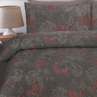 In 2 Linen Sophia Garnet Queen Size Quilt Cover Set