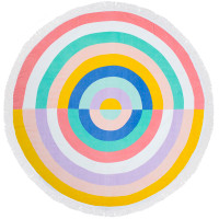 Bambury Rainbow Printed Round Beach Towel - 150cm