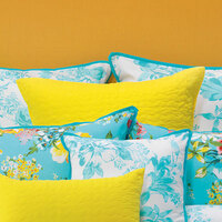 Bianca Macey Yellow Quilted  European Size Pillowcase