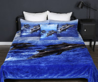 Dolphin Mink Blanket Single, King Single, Double Georges