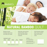 Alastair's Bamboo with Cotton Cover Single Quilt