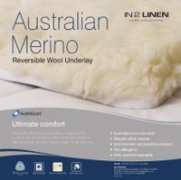 Double Bed Size Australian Merino Wool Reversible Underlay Underblanket