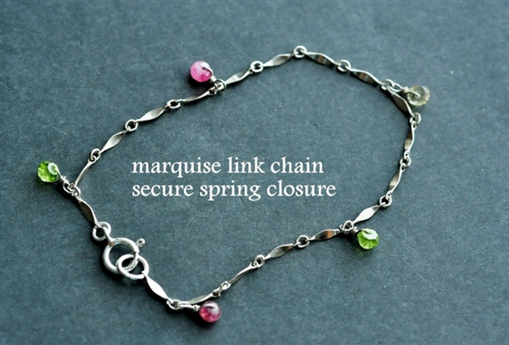 custom mother's / grandmother's birthstone charm bracelet