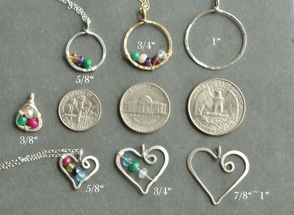 CIRCLE OF LOVE custom genuine mother's birthstone necklace (5 stones)