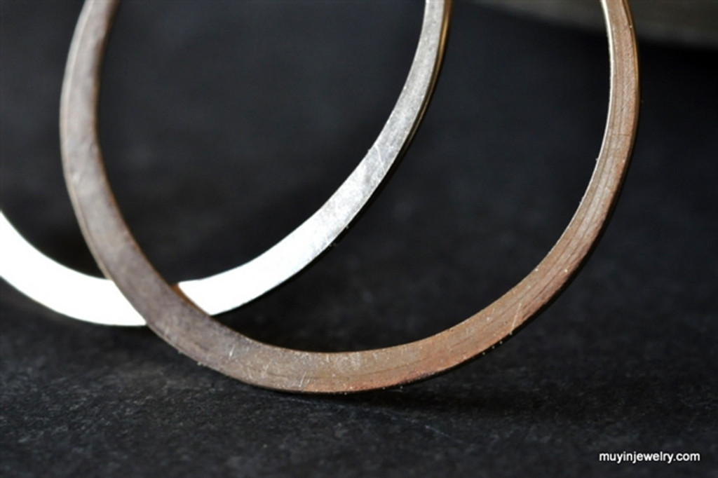 "classic 3/4"" (20mm) artisan forged hoop earrings"
