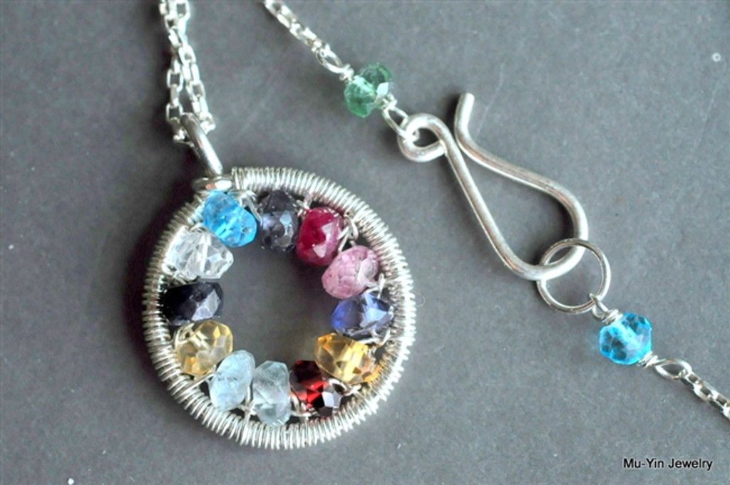 WE ARE FAMILY grandmother's birthstone necklace (12~15 stones)