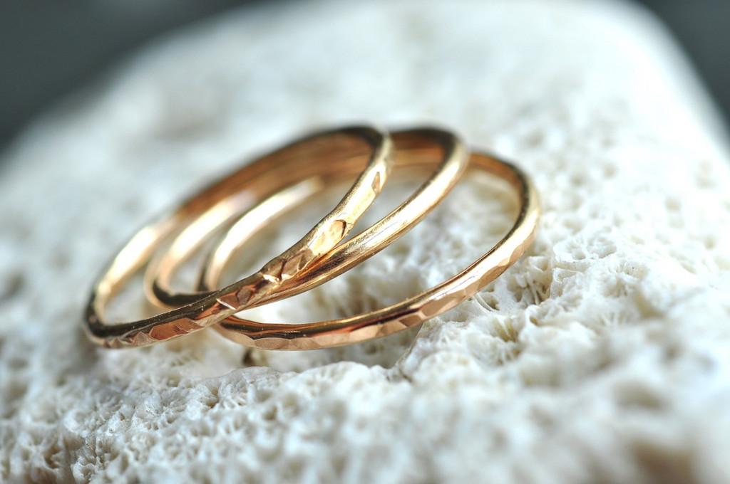 set of 3 14k gold filled stacking rings