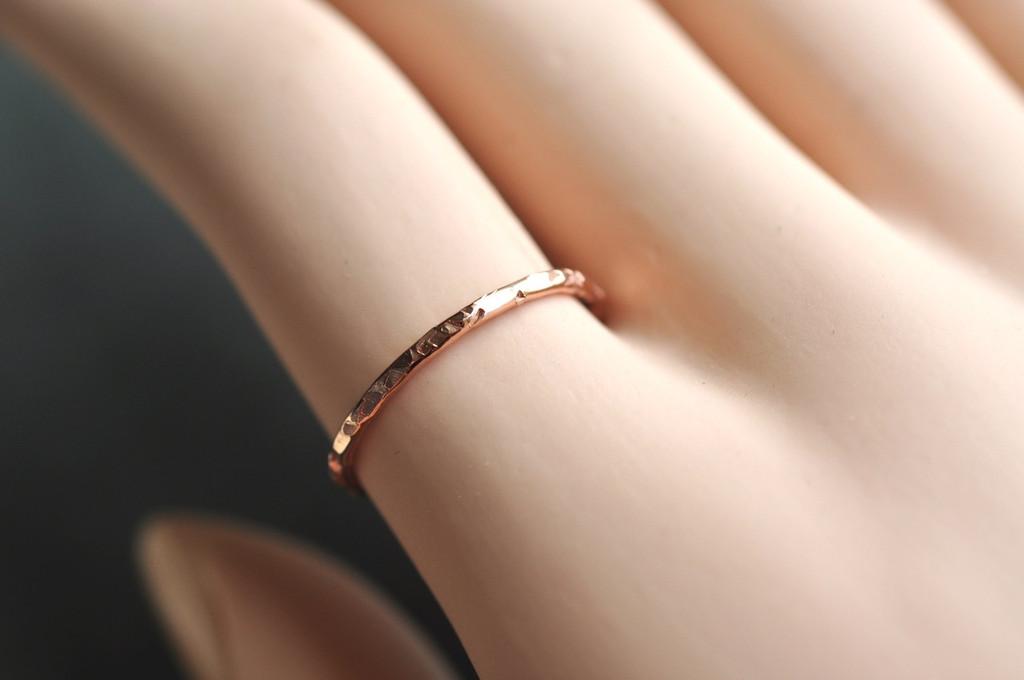 skinny 14k gold filled ring