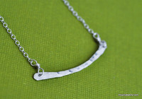 horizontal bar necklace sterling silver