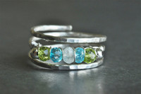 Mother's Grandmother's Birthstone Ring adjustable