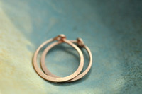 "classic 7/16"" (11mm) artisan forged hoop earrings"