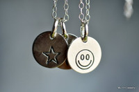 TINY SYMBOL (and/or initials) necklace - sterling silver